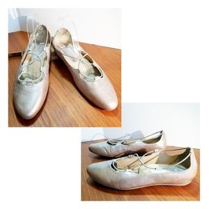 """Earthies, leather """"Essen"""" ballet-look flats, shoes"""